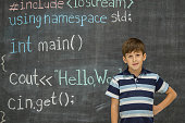 Students Learning Code