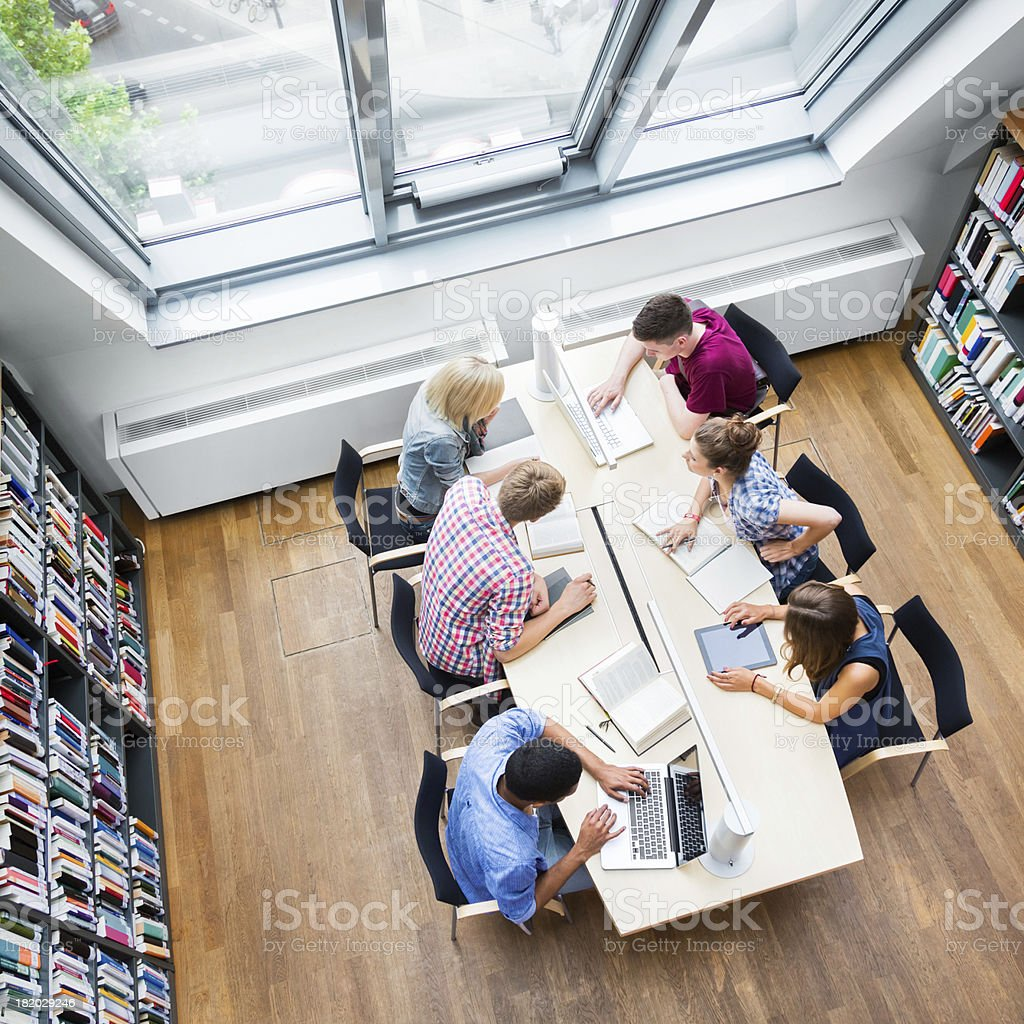 Students Learning Together royalty-free stock photo