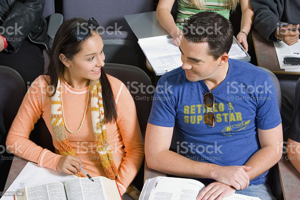 Students Looking at Each Other During Class stock photo