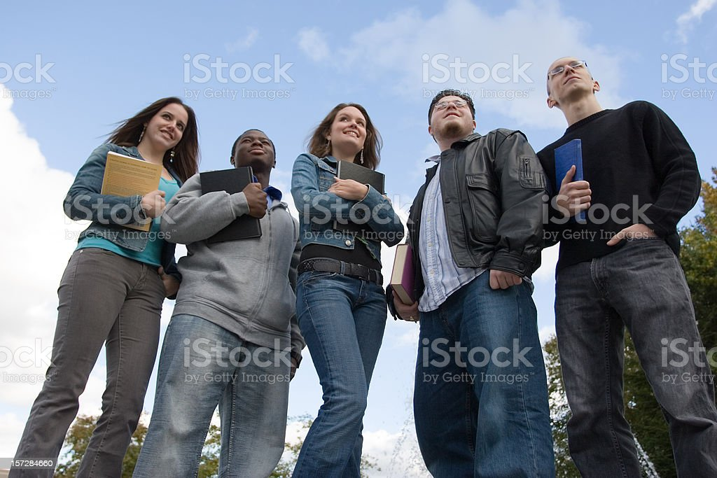 Students looking into the future royalty-free stock photo