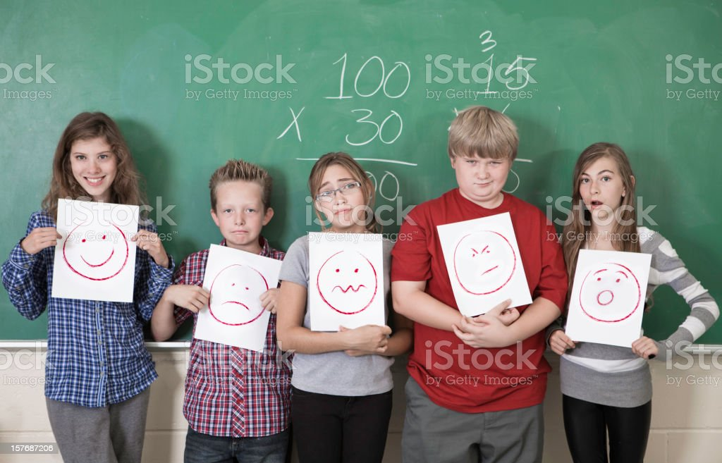 Students making Faces royalty-free stock photo