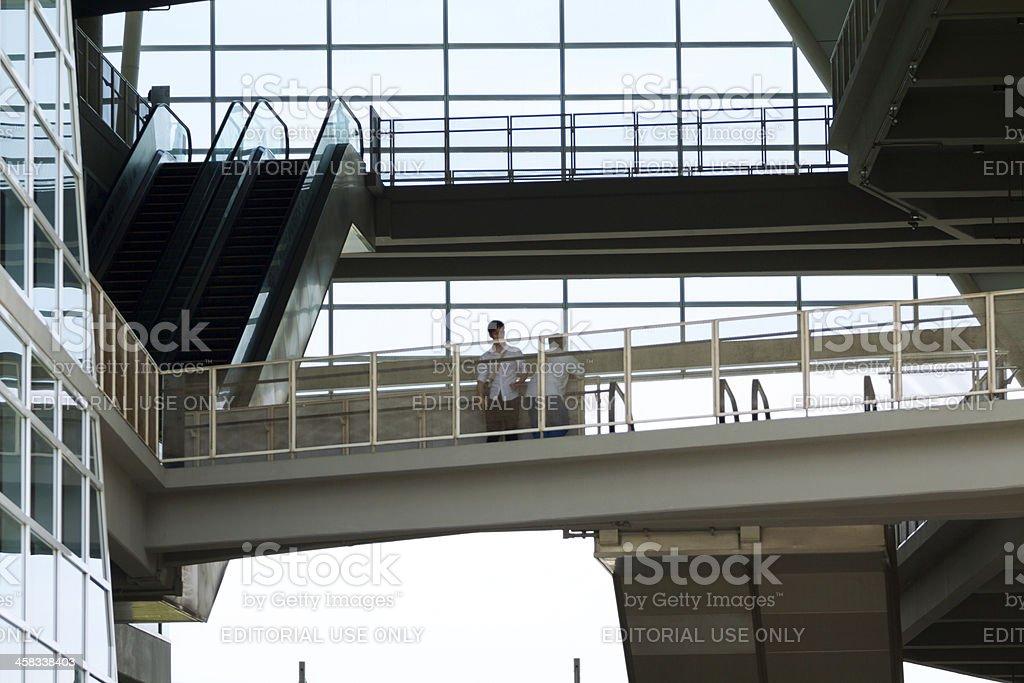 Students on airbridges royalty-free stock photo