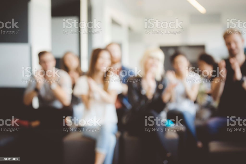 Students on semiar stock photo