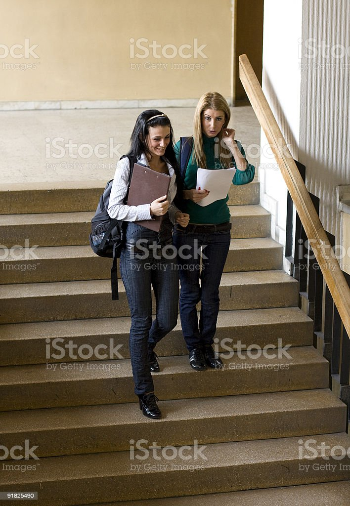 Students on stair stock photo