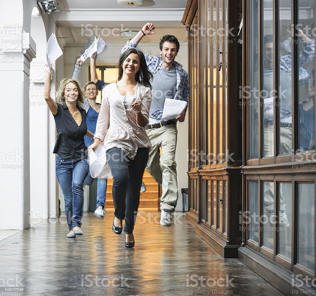 Students On The Run stock photo