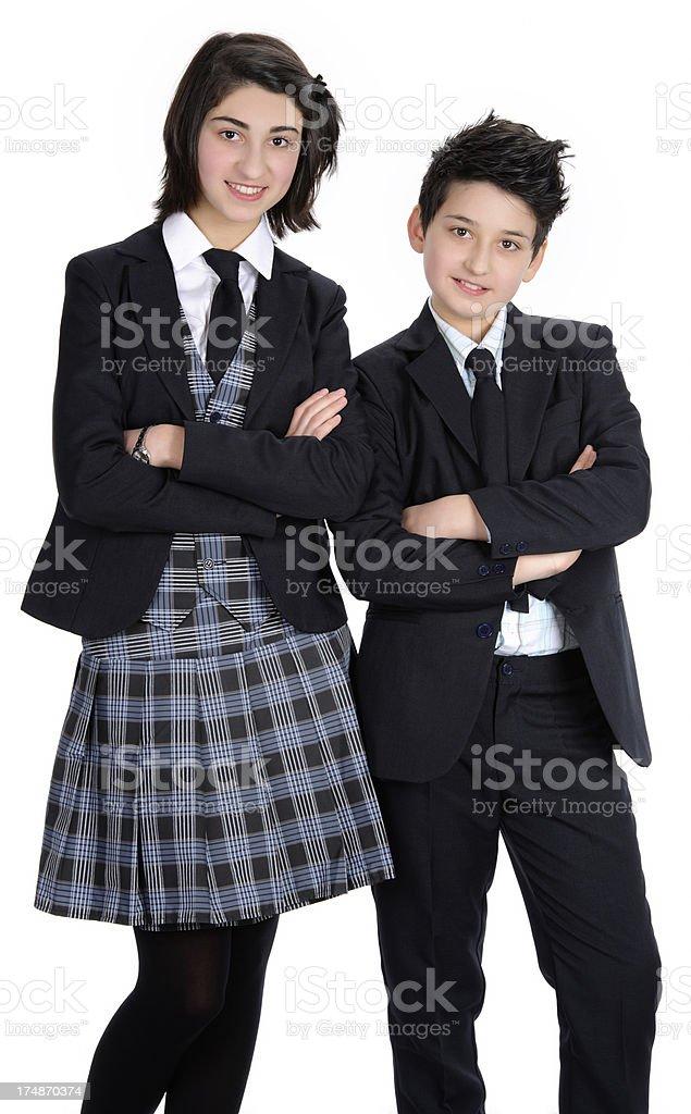 students on white royalty-free stock photo