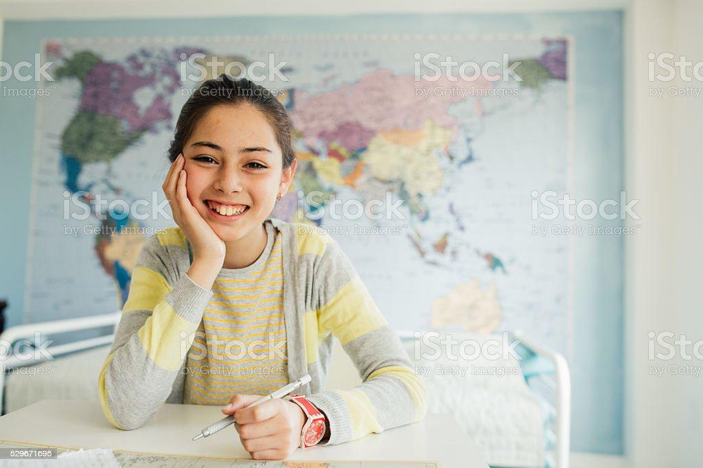 Student's portrait stock photo
