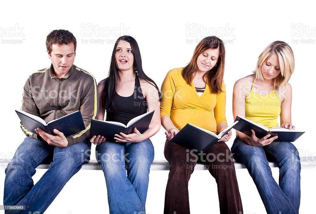Students reading books royalty-free stock photo