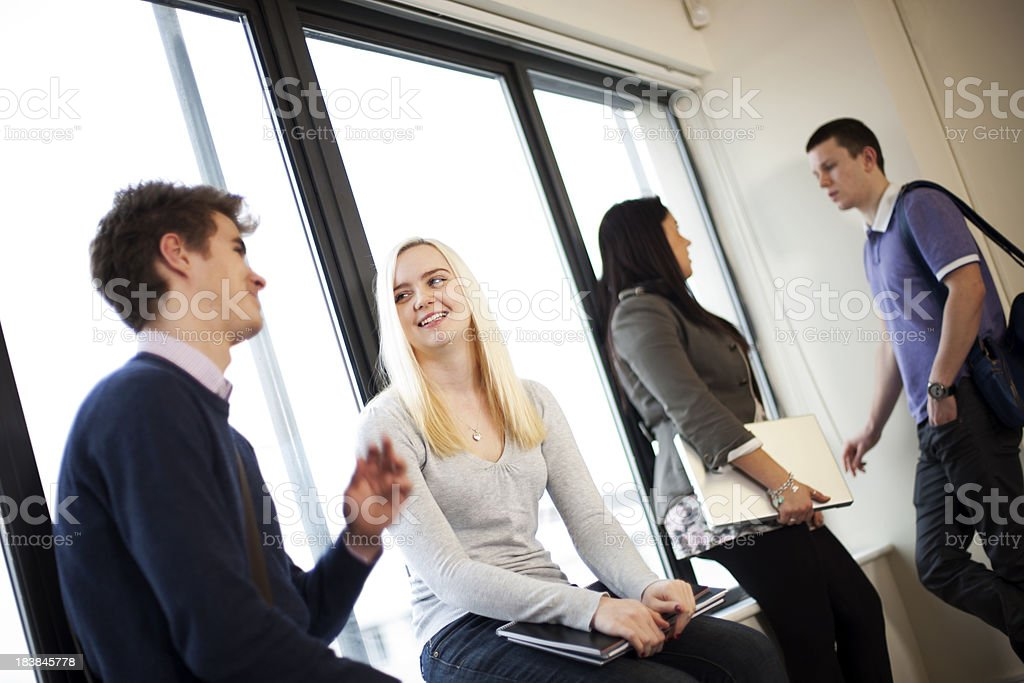 Students relaxing royalty-free stock photo