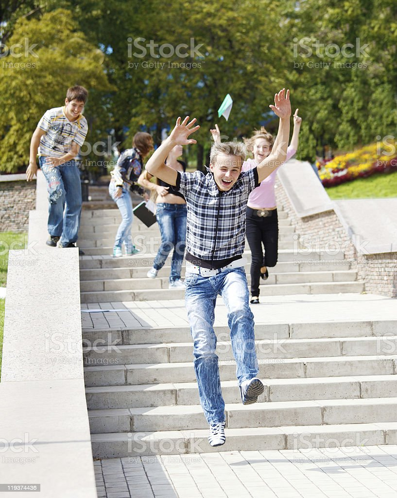students running royalty-free stock photo
