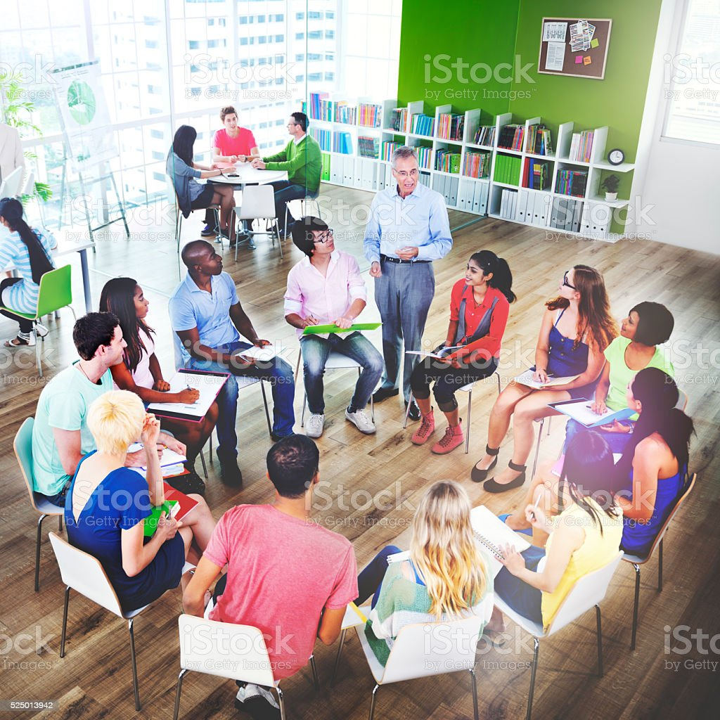 Students School College Teaching Learning Education Concept stock photo