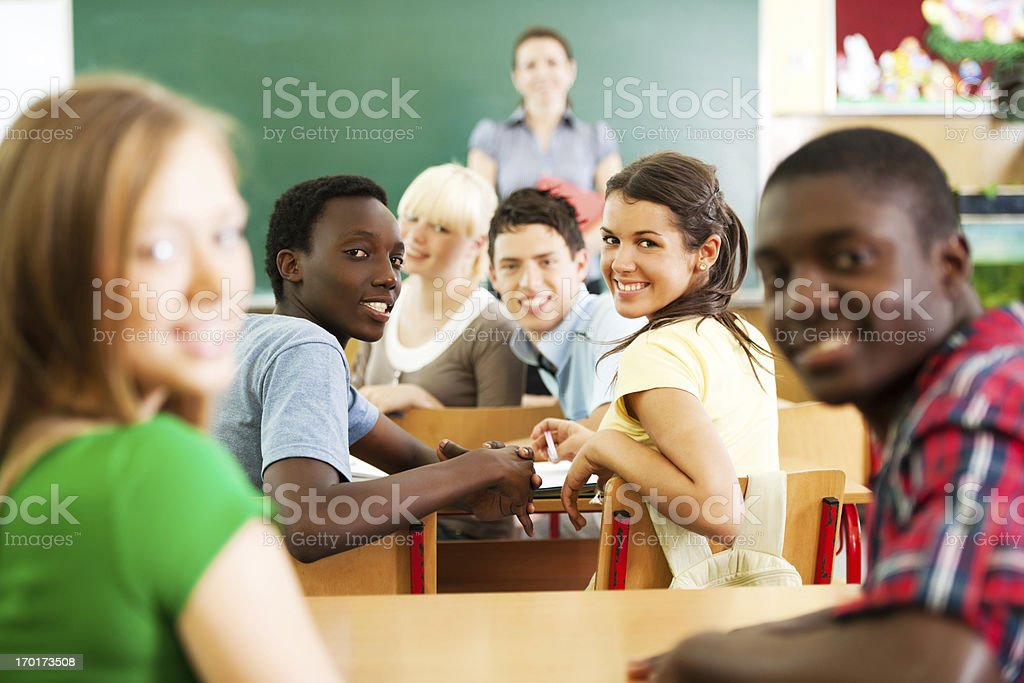 Students sitting in the classroom. royalty-free stock photo