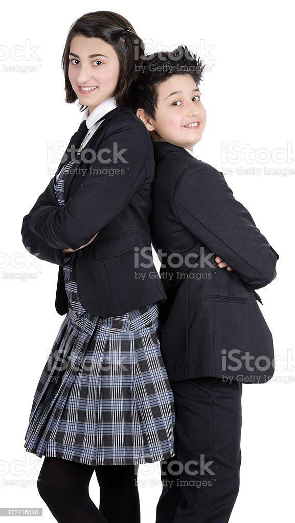 students smiling royalty-free stock photo