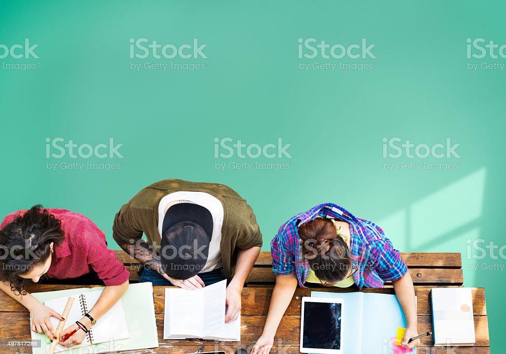Students Studying Learning Education stock photo