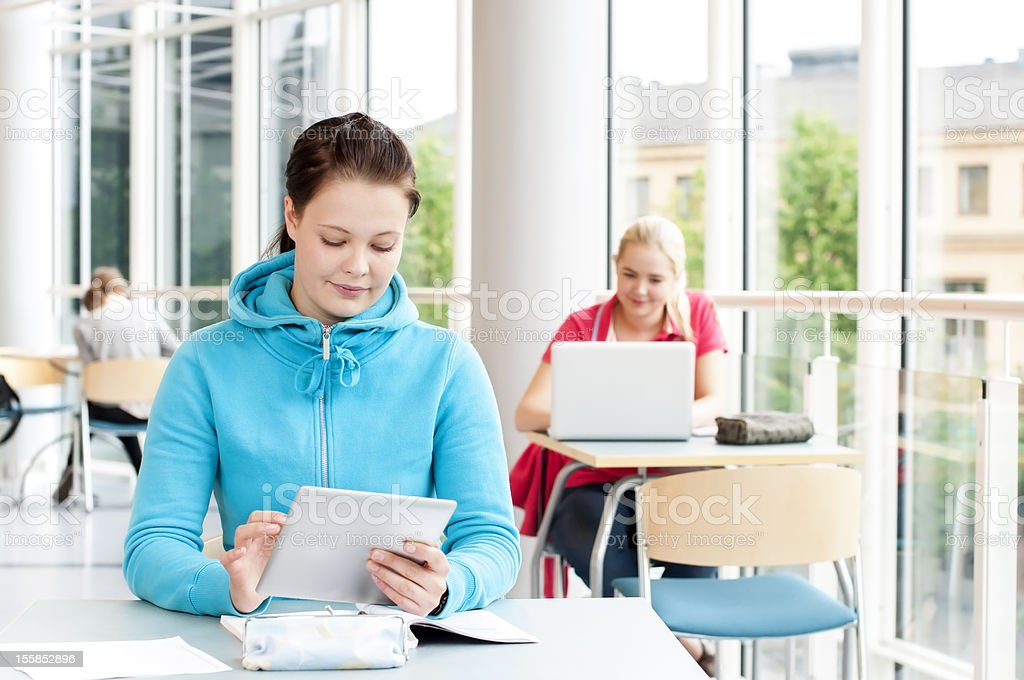 Students studying royalty-free stock photo