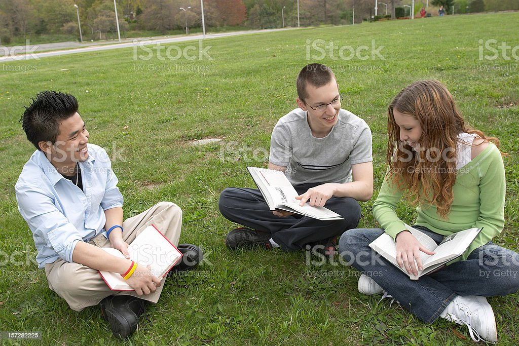 Students studying stock photo