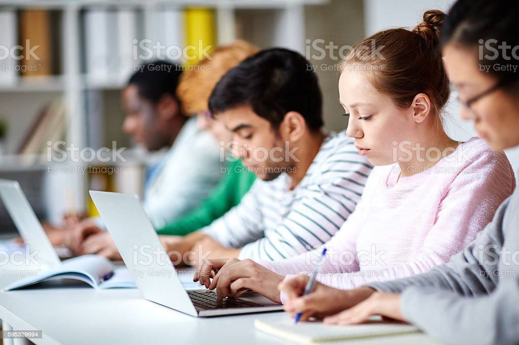 Students studying stock photo