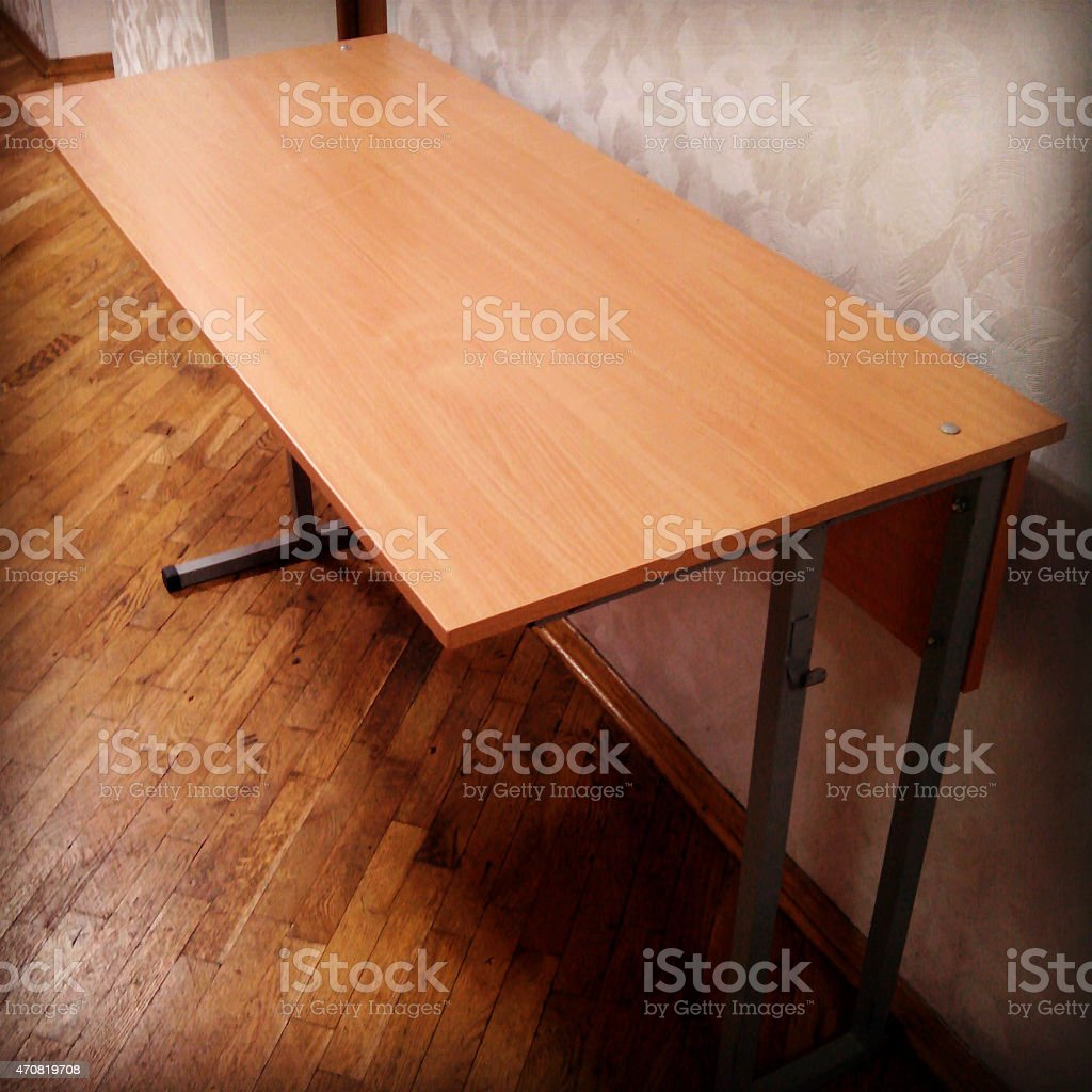 Student's table. stock photo