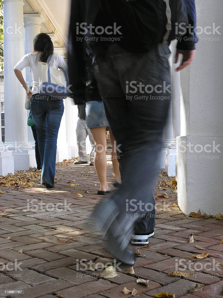 Students Walking royalty-free stock photo