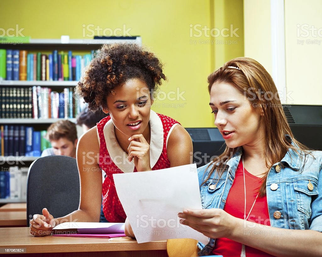 Students watching test results royalty-free stock photo