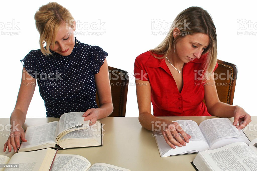Students with a lot of books royalty-free stock photo