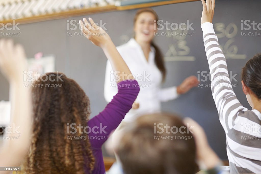 Students with teacher in classroom royalty-free stock photo