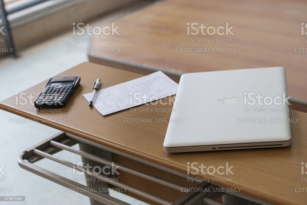 Student's Working Area royalty-free stock photo