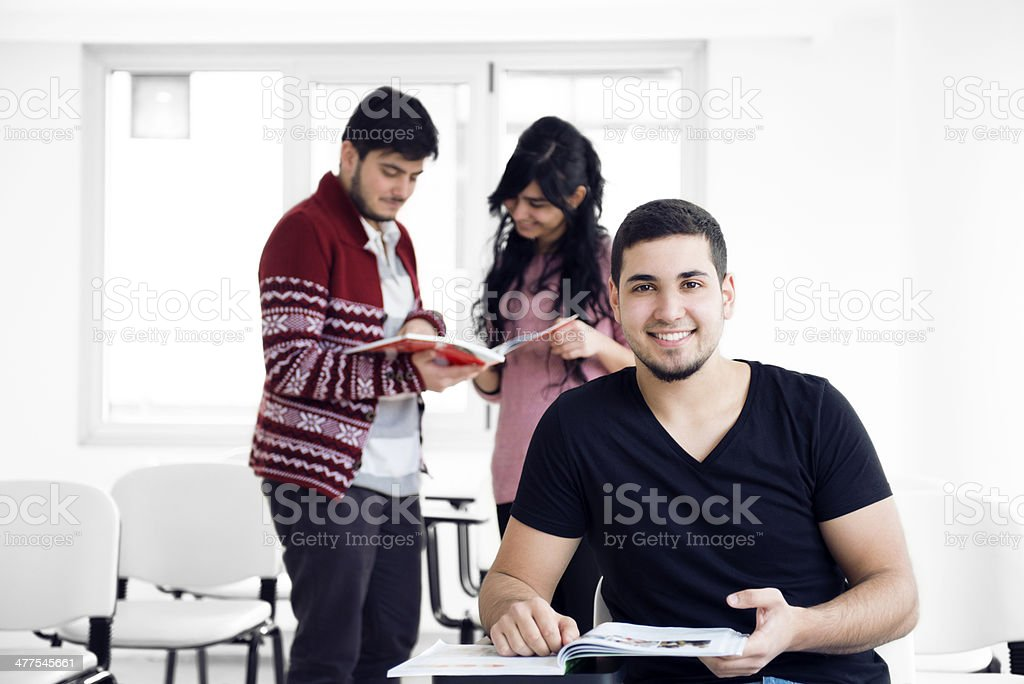 Students working classes royalty-free stock photo