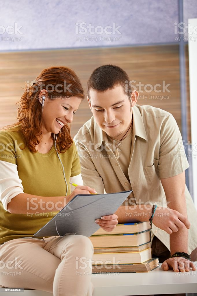 Students working together royalty-free stock photo