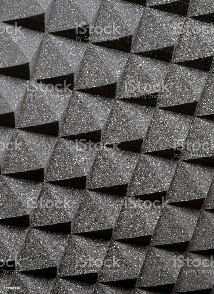 Studio acoustic foam stock photo