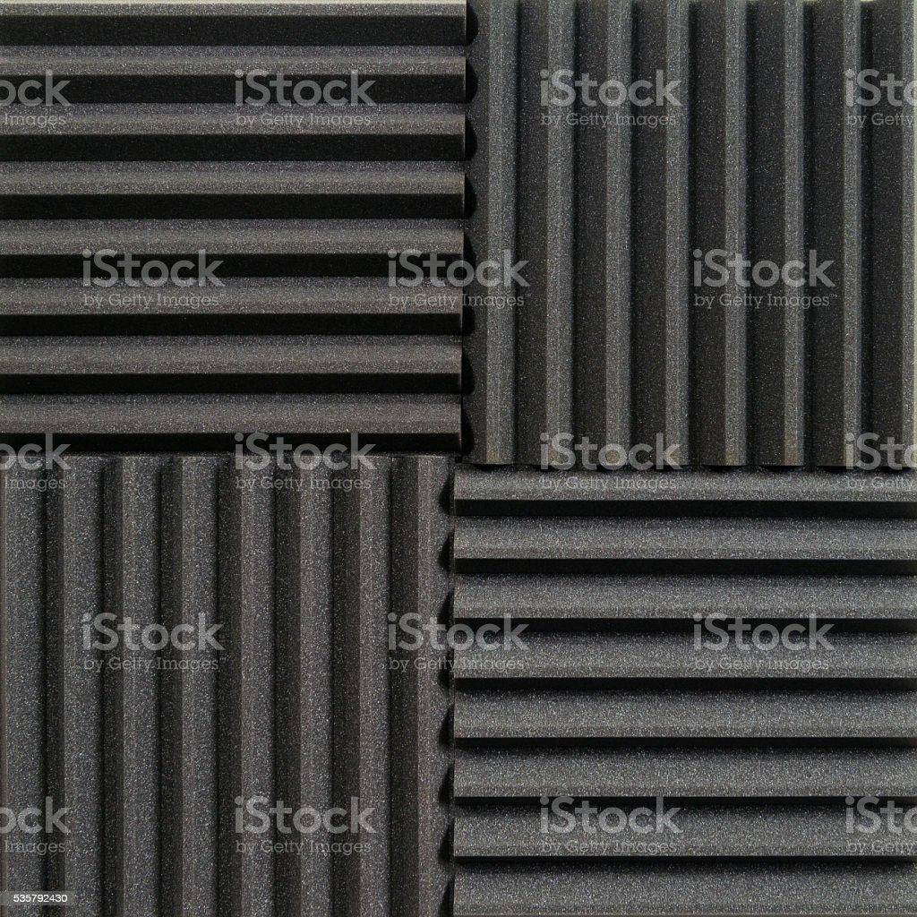 Studio acoustic tiles stock photo