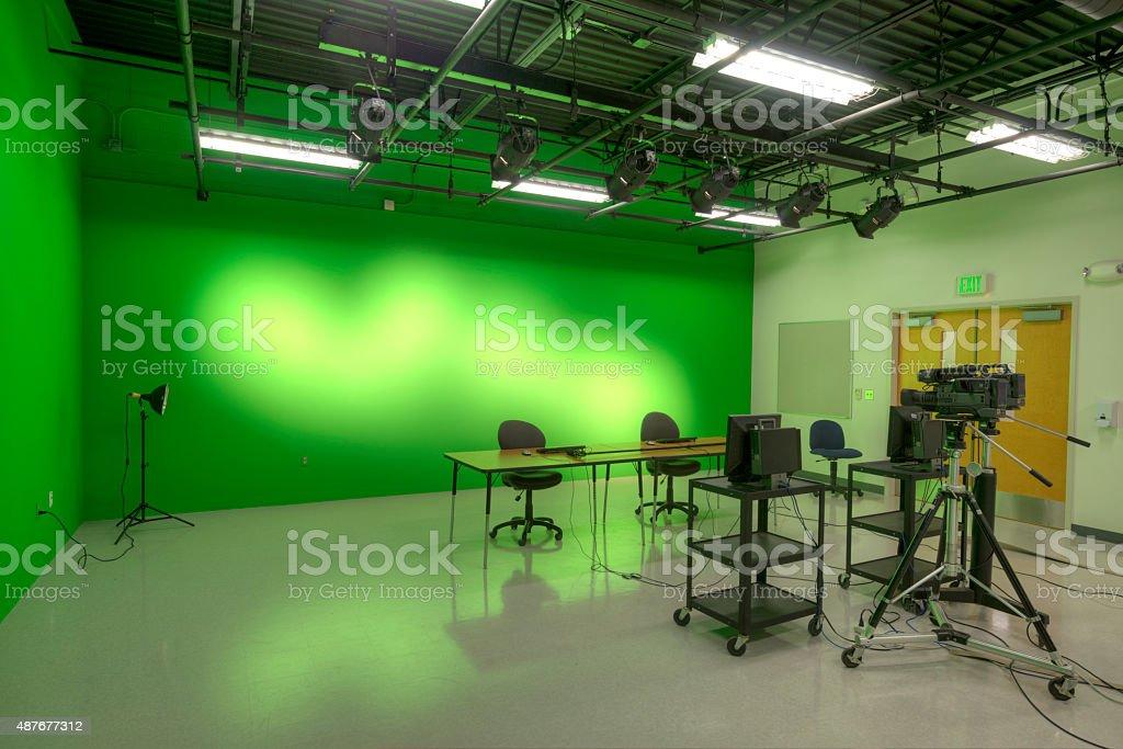 TV Studio at High School stock photo