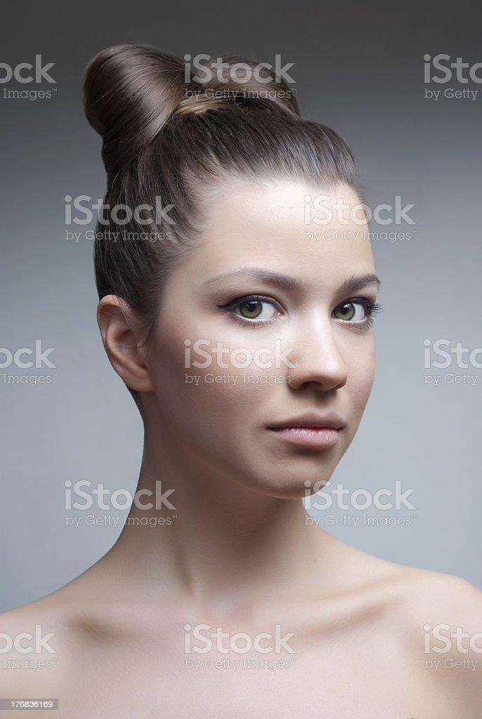 Studio beauty portrait royalty-free stock photo