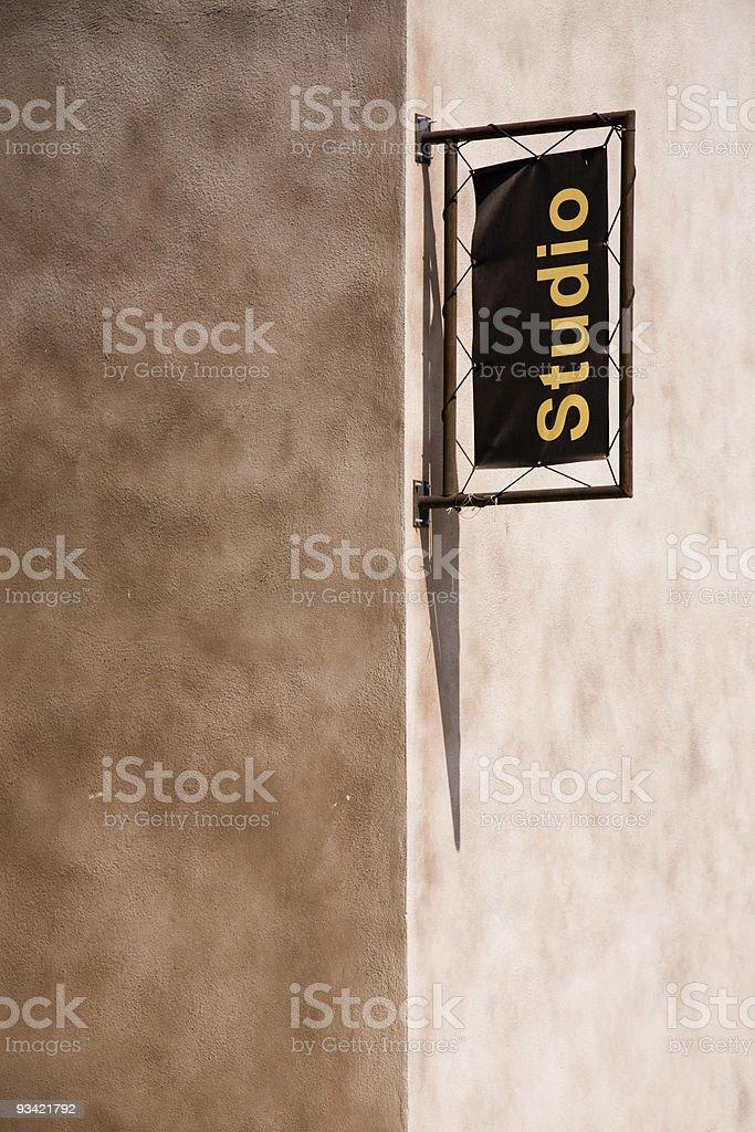 Studio Building Corner royalty-free stock photo