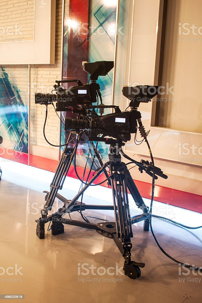 Studio camera for professional HDTV production stock photo