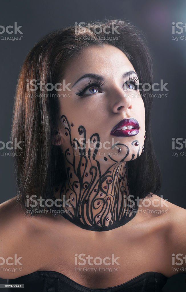 conceptual Retrato de mujer belleza tipo estudio foto de stock libre de derechos