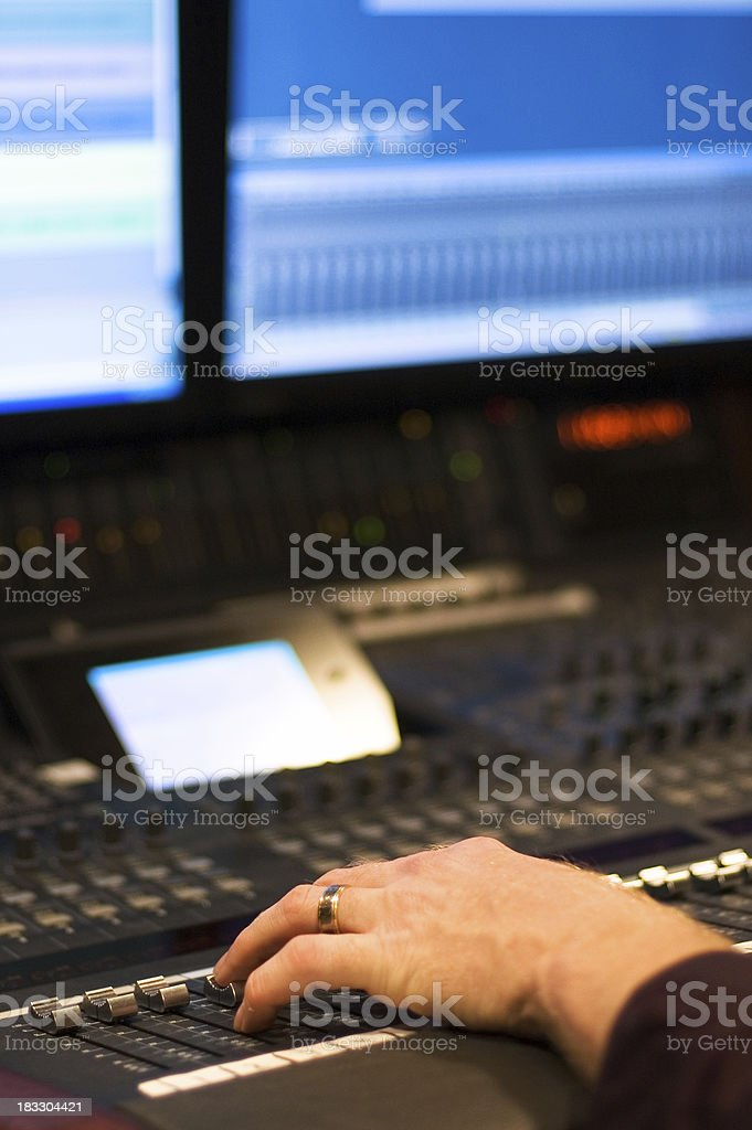 Studio Control royalty-free stock photo