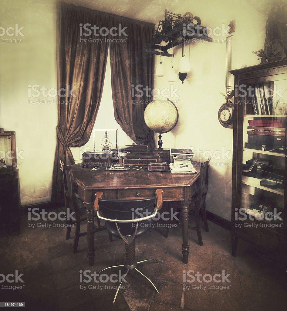 Studio Corner. Vintage style stock photo