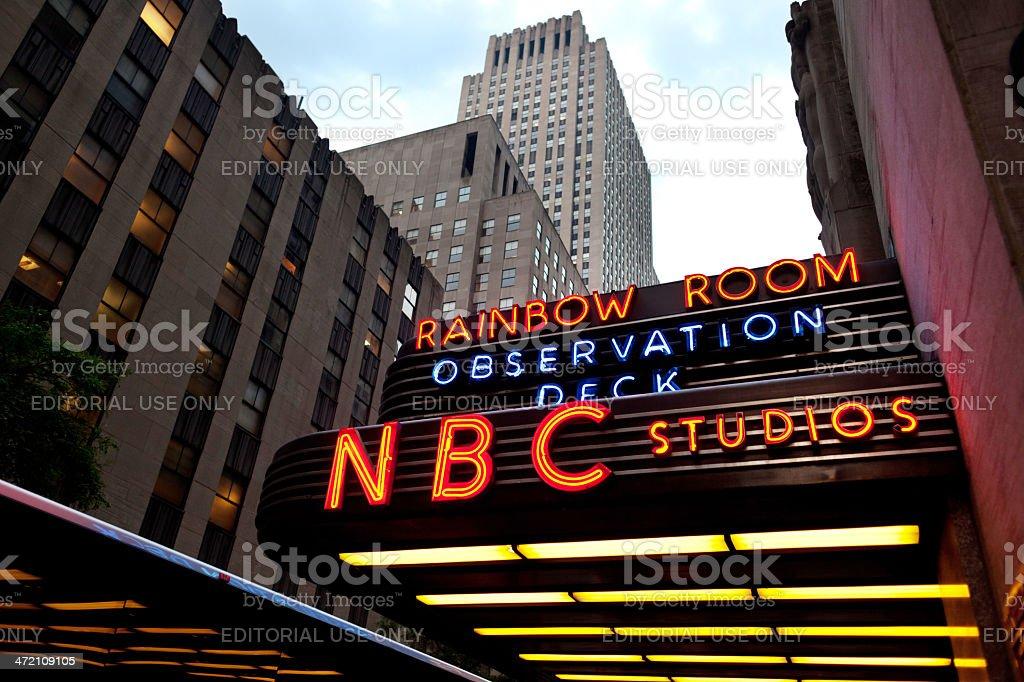 NBC Studio Entrance stock photo