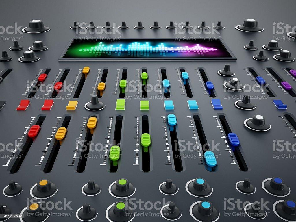 Studio equalizer stock photo