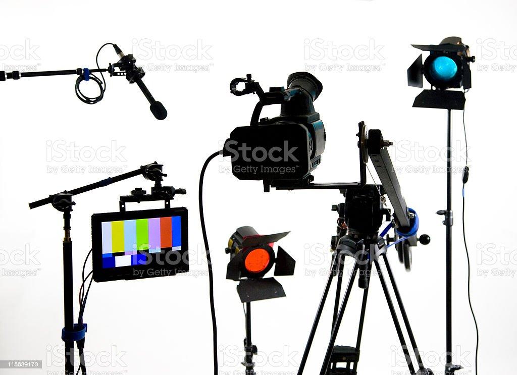 Studio gear on white royalty-free stock photo