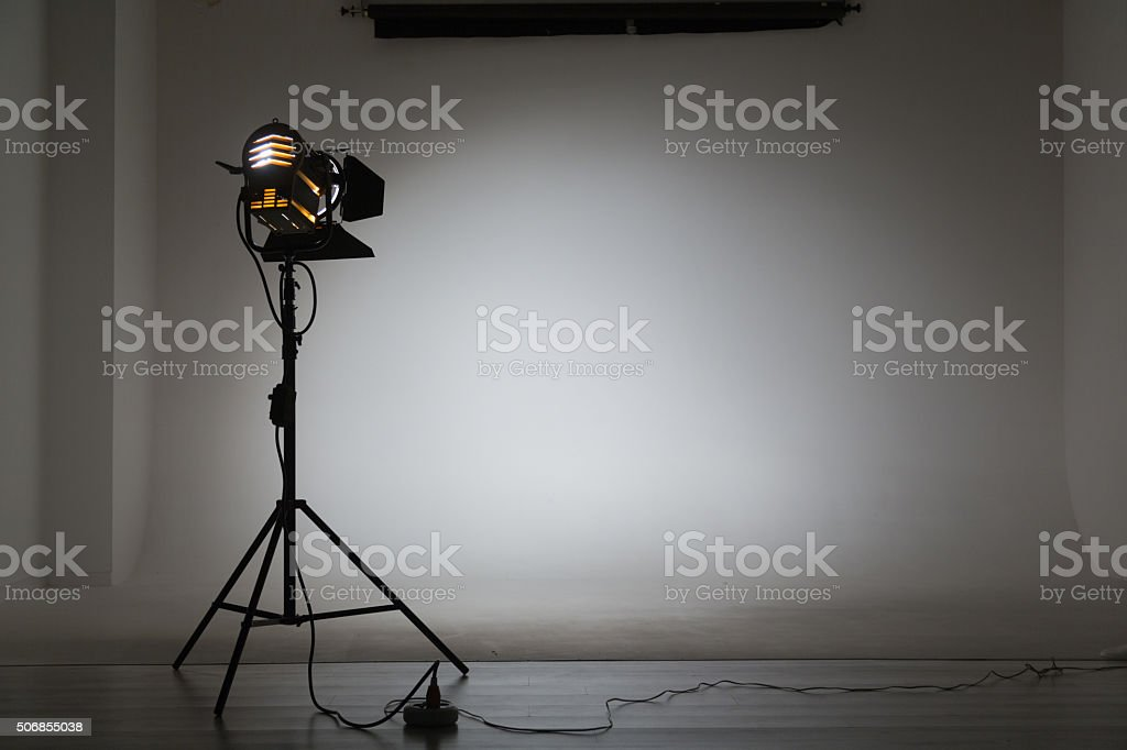 Studio Halogen Light stock photo