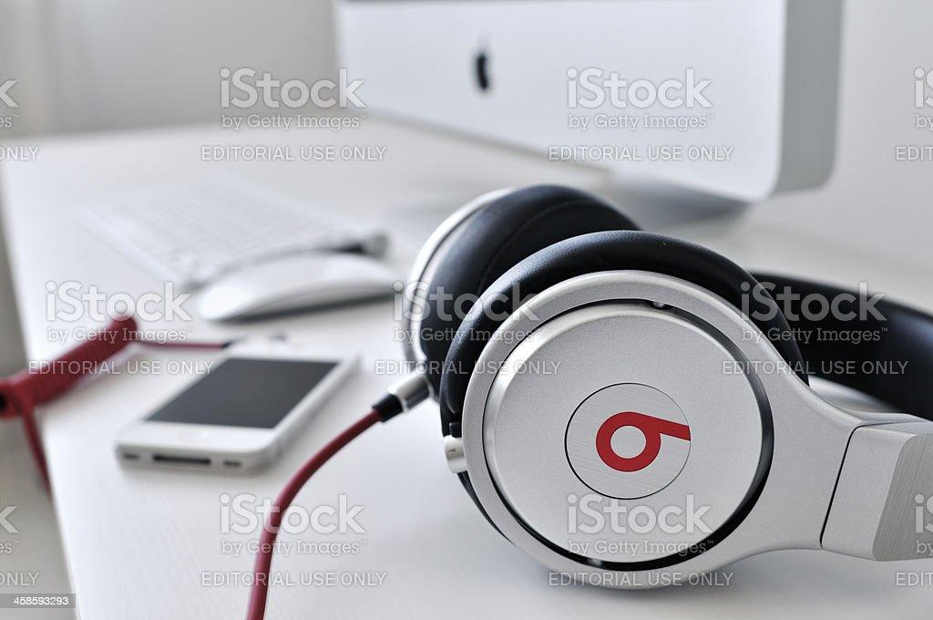 Studio headphones stock photo