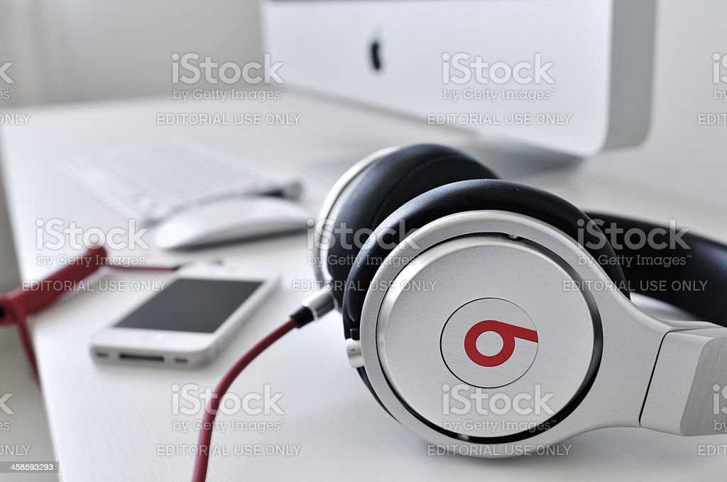Studio headphones stock photo