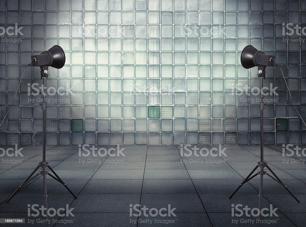 studio in old empty modern interior royalty-free stock photo