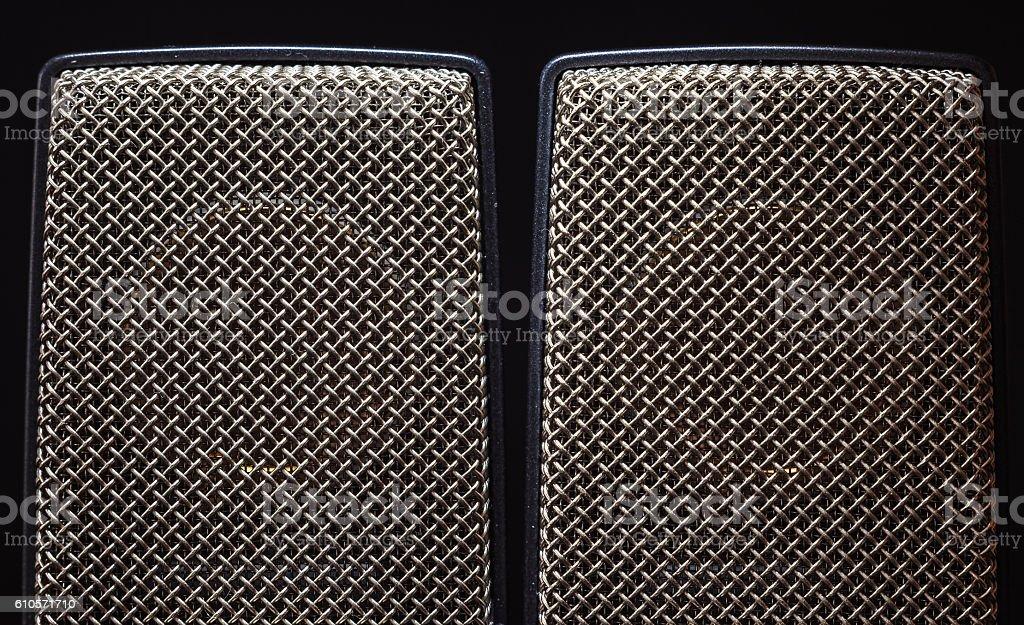 Studio Large Capsule Microphones stock photo