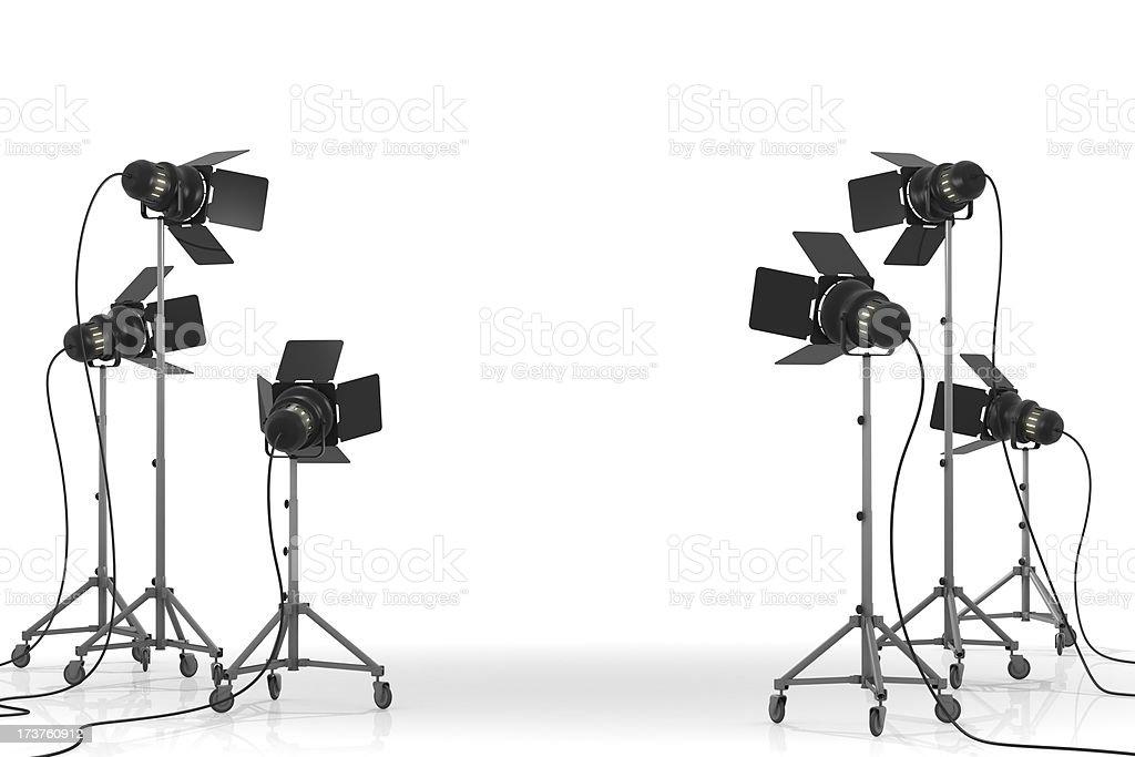 スタジオ照明機器 II ロイヤリティフリーストックフォト