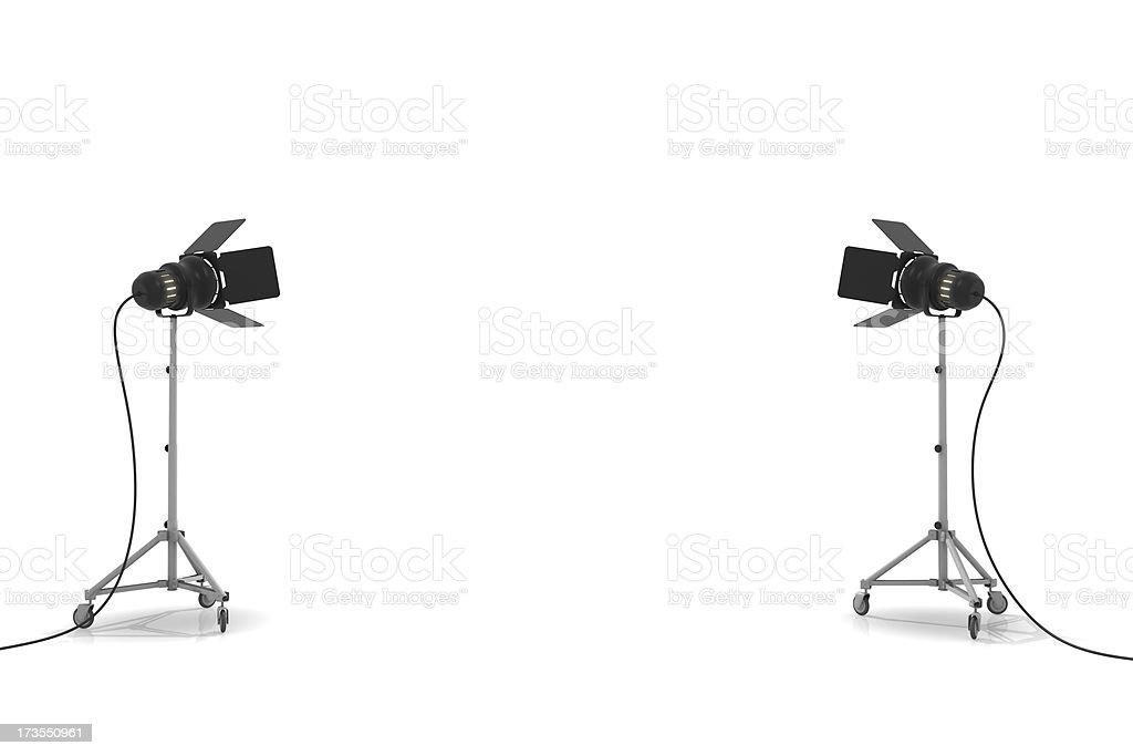 スタジオ照明機器 ロイヤリティフリーストックフォト