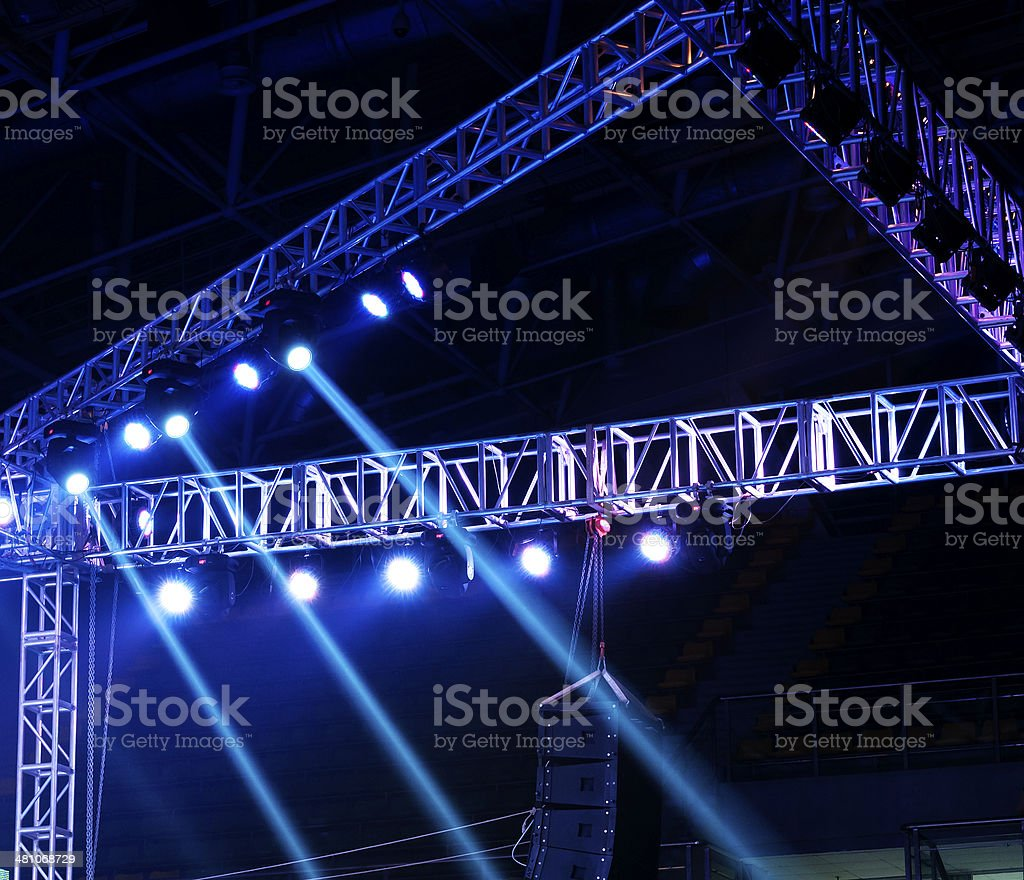 Studio lighting equipment royalty-free stock photo