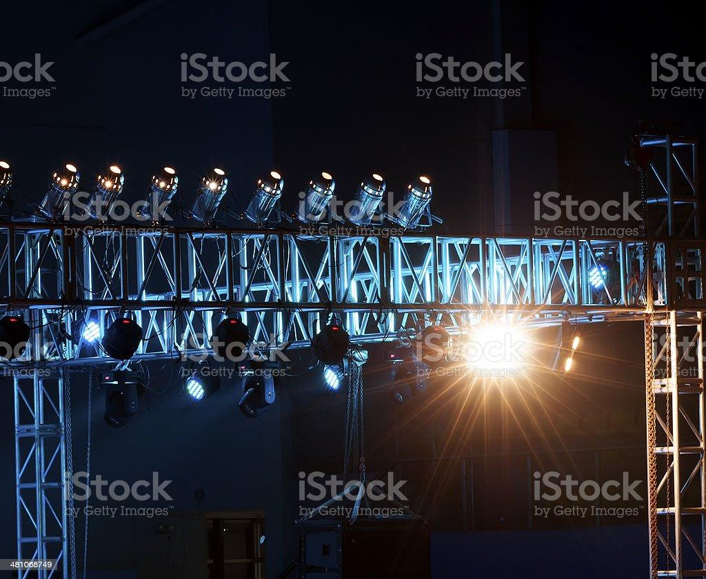 Studio lighting equipment stock photo